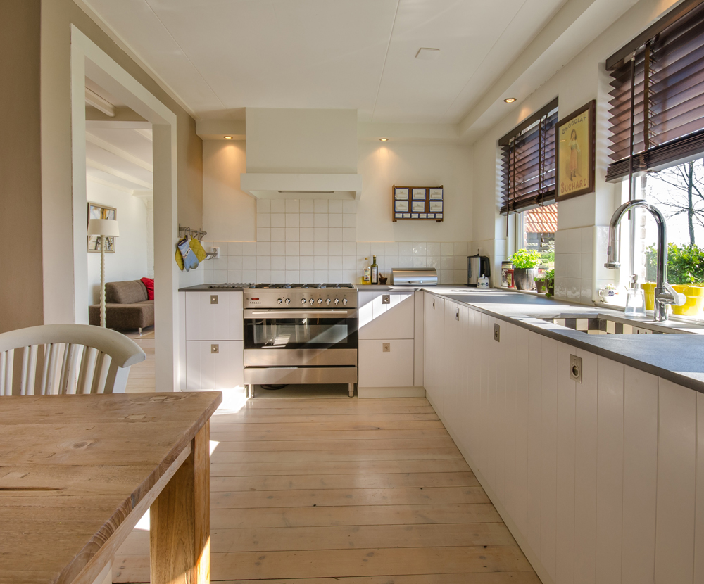 image showing a bright kitchen